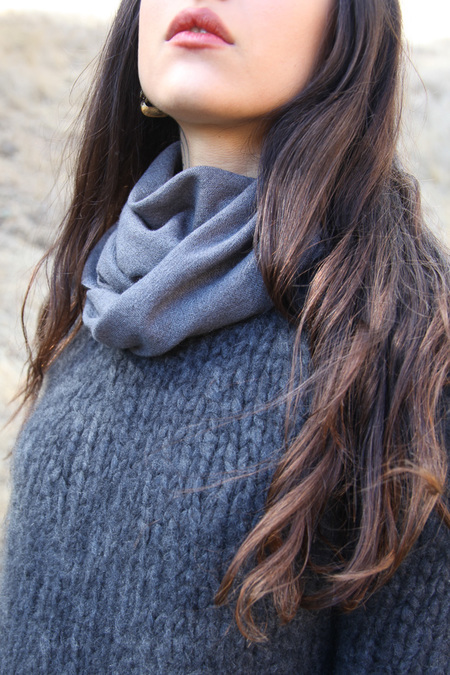 From The Road Square Scarf - Denim