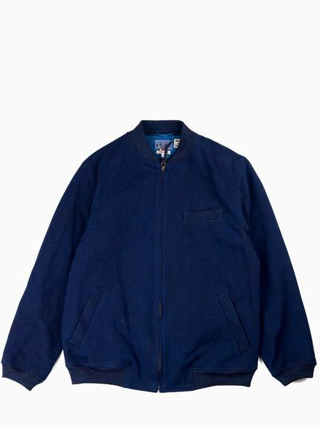 Blue Blue Japan Woven Sashiko MA Jacket - Pure Indigo