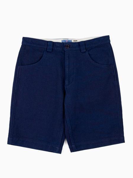 Blue Blue Japan Woven Sashiko Shorts - Pure Indigo