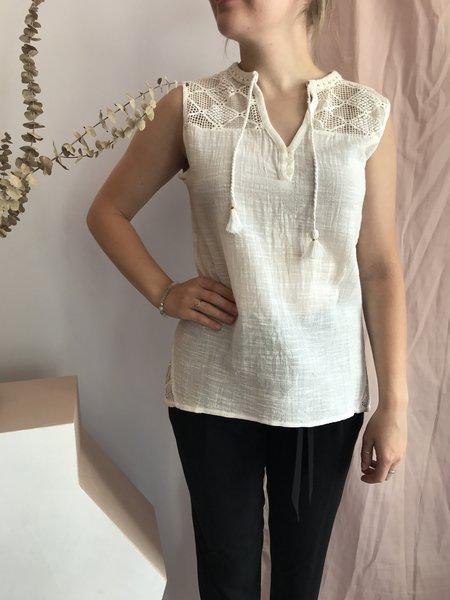 Melissa Nepton Izya Blouse - Blanc Casse