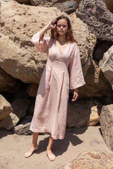 Happy Haus Kimono Linen Dress