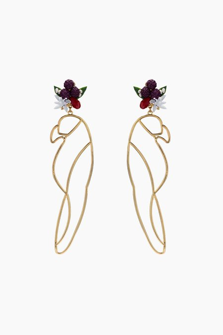mercedes salazar Guacamaya Earrings - Gold
