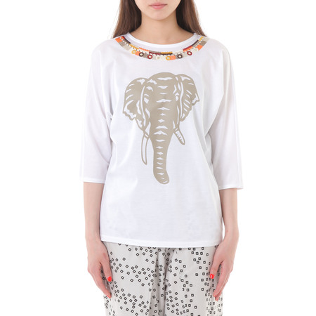 PLAINLESS EMBROIDERED T-SHIRT