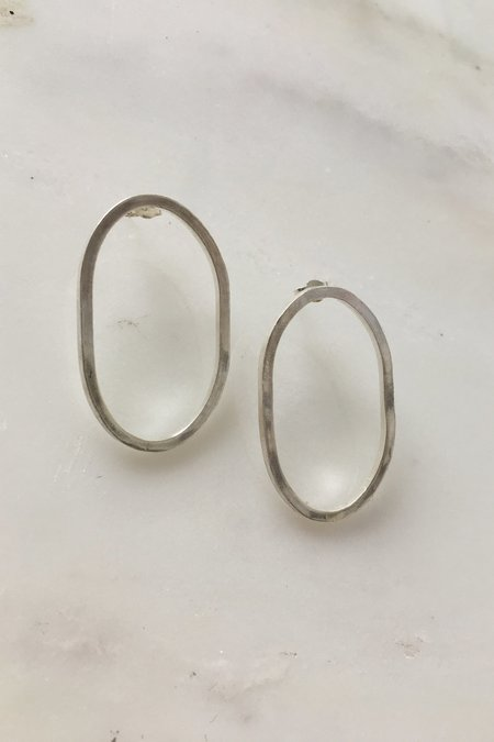 Alice Chandler Silver Oval Studs