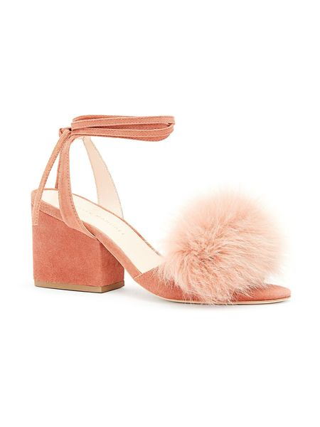 Loeffler Randall NICKY ANKLE TIE SANDAL - Dusty Rose