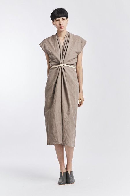 Miranda Bennett Linen Knot Dress - Terlingua