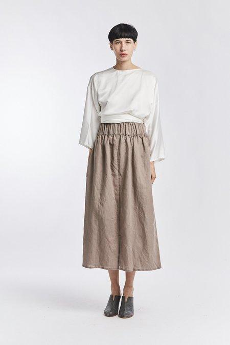 Miranda Bennett Linen Paper Bag Skirt - Terlingua