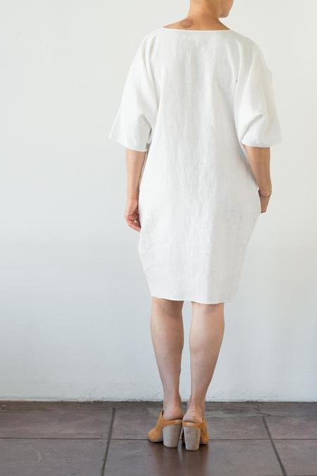 Rachel Craven Short V-Neck Caftan - Moonstone White