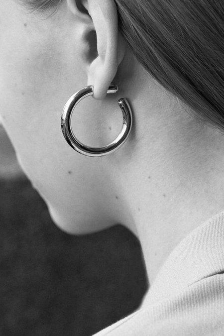 Maria Black Ruby 35 Hoop Earring - Silver