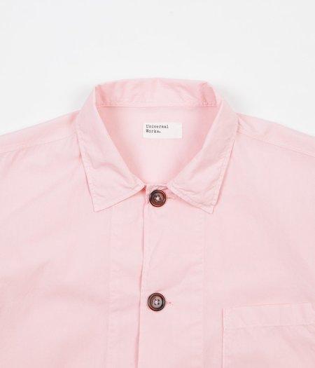 Universal Works Bakers Overshirt - Strawberry Pink Poplin