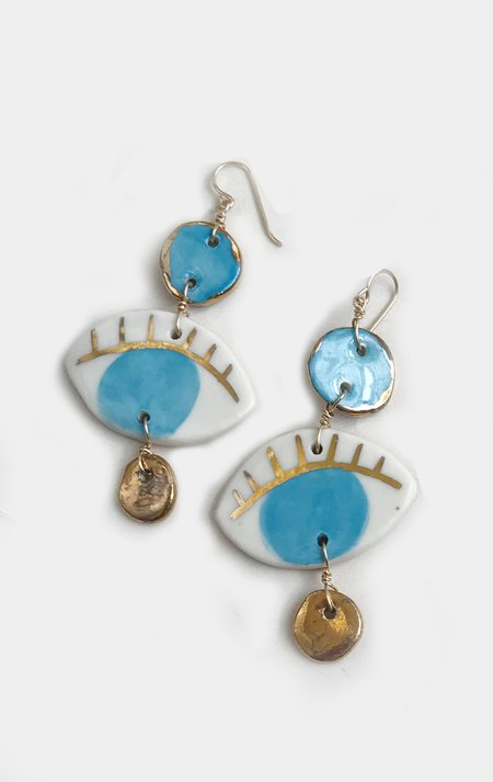 Ippolita Ferrari Ceramic Occhio Earring - Light Blue