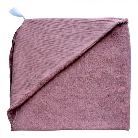Kids Annabel Kern Nomade Cotton Gauze Bathrobe - Terracotta