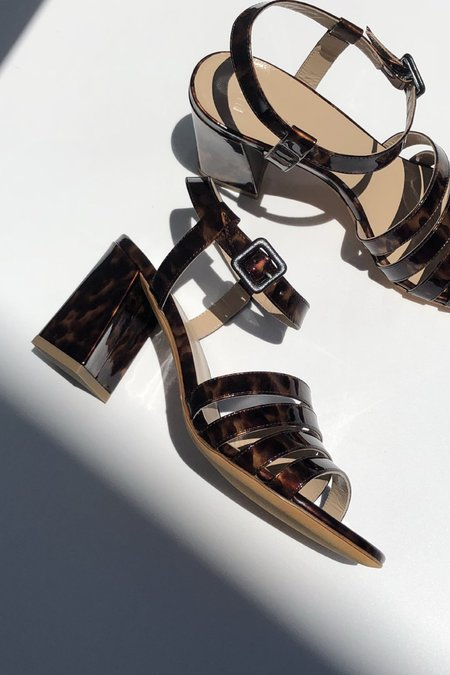 Maryam Nassir Zadeh Palma High Sandal - True Tortoise Patent