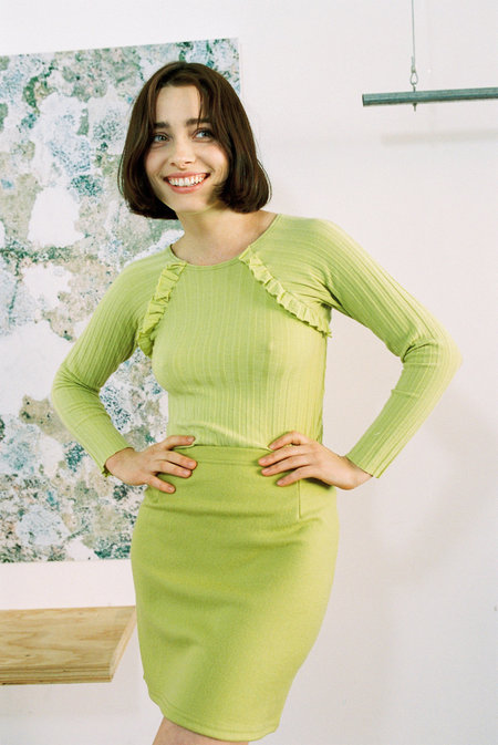 FME Apparel Ruffle Skivvy - Lime