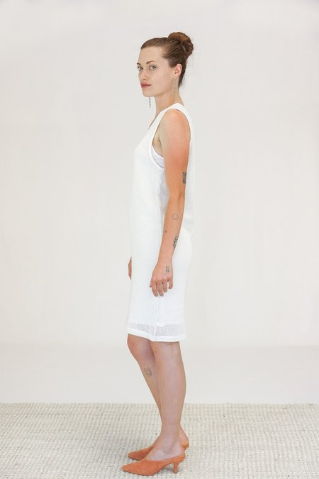 Oak NYC Mesh Tank Dress - Bone