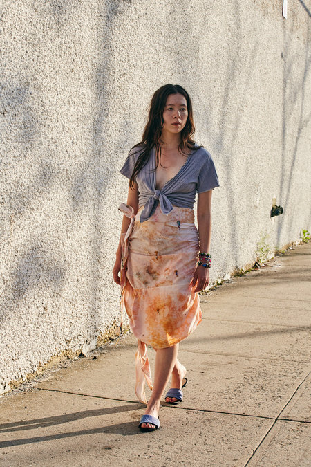 KAHLE TIED-UP WRAP/SKIRT - DYED MULTI