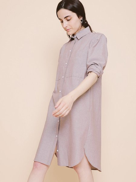 Carleen Roadtrip Shirtdress - Brown