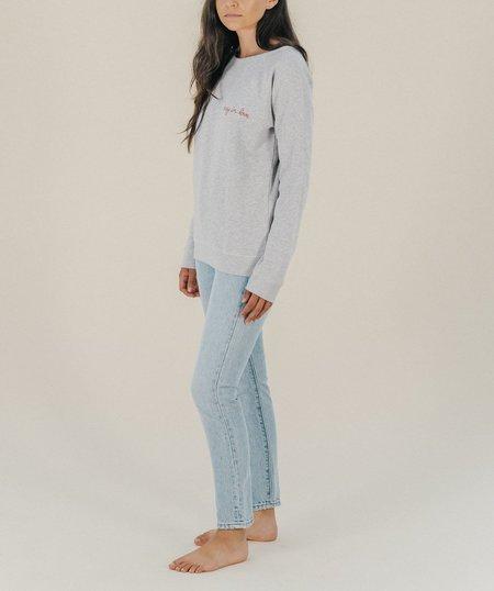 Maison Labiche Crazy In Love Sweatshirt - Grey