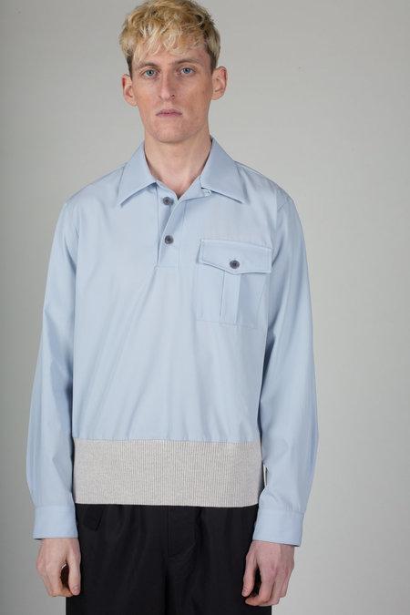 Dries Van Noten Coffey Shirt Top - Light Blue