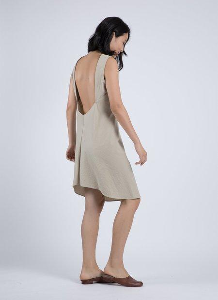 KAAREM Beryl Low Back Textured Dress - Wheat