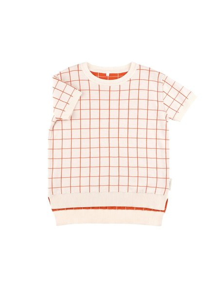 kids unisex TINYCOTTONS GRID SS SWEATER - light pink