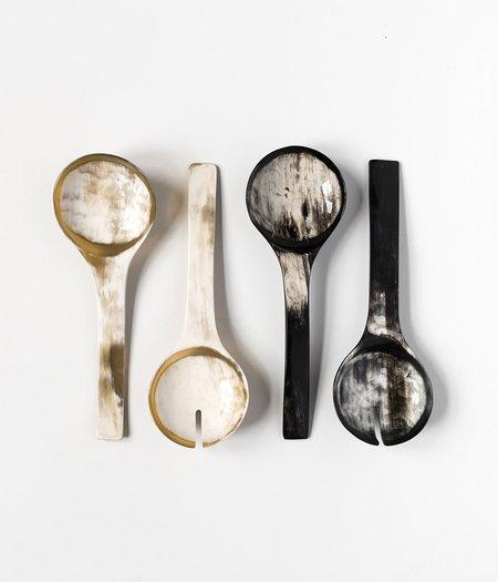 Rose & Fitzgerald Ankole Horn Serving Spoon Set - DARK