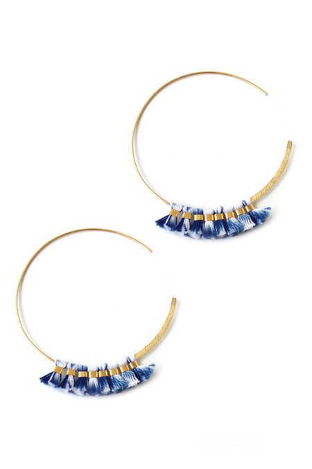 Bluma Project Hoops - Blue Ikat