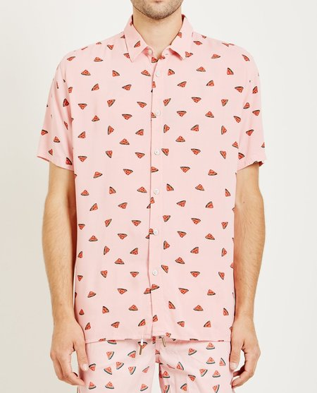 Barney Cools HOLIDAY SHIRT - PINK WATERMELON