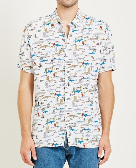 Barney Cools HOLIDAY SHIRT - SEA LIFE WHITE