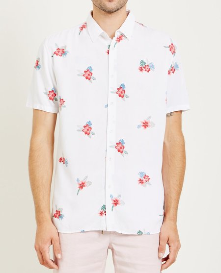 Barney Cools HOLIDAY SHIRT - WHITE/FLORAL