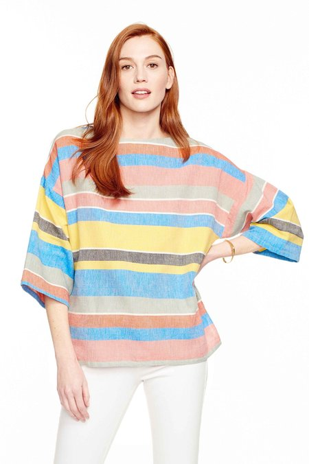 Proud Mary Huipile Top - Kingston Stripe