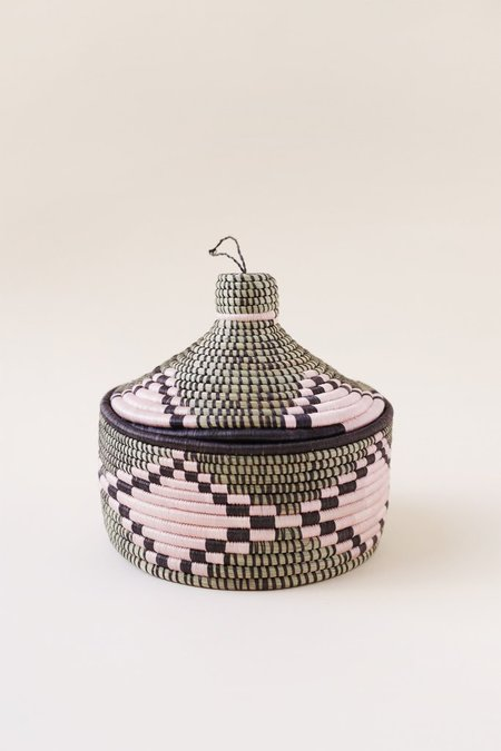 Indego Africa Marrakech Geometric Woven Basket