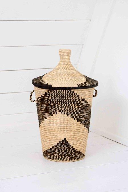 Rose & Fitzgerald Palm Arrow Basket - Black/Natural