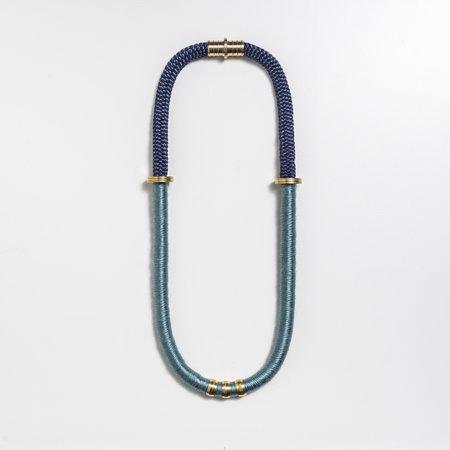 Mweya Dova Necklace - BLUE/BLACK