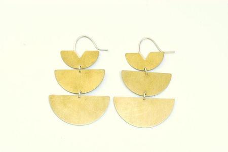 Lumafina Lunar Earrings - Brass