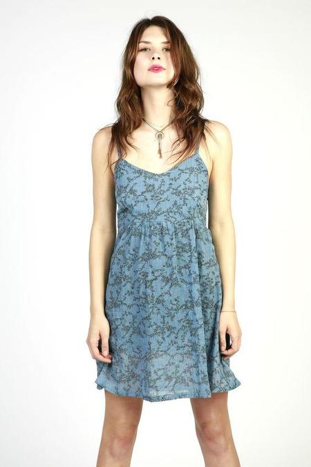 Cameo Rachel Dress - Denim Floral