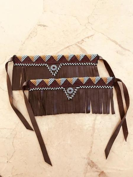 Yolanda Out of Africa Double Beaded Bootstrap or Choker