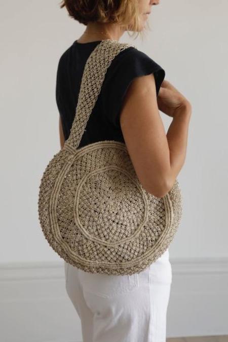 Maison Bengal Round Macrame Bag