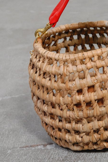 Clare V. Open Weave Pot De Miel - Natural