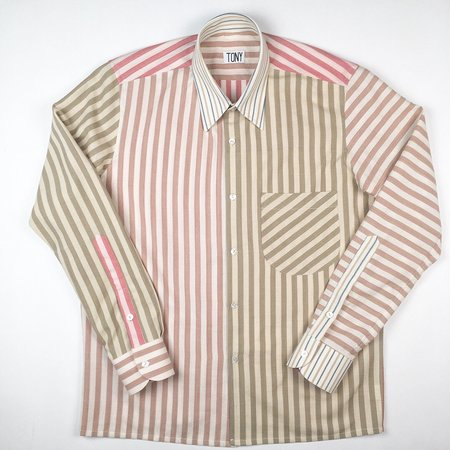 Unisex Colorant X Tony Shirtmaker Woven Cotton Shirt - Mult-Stripe No.1