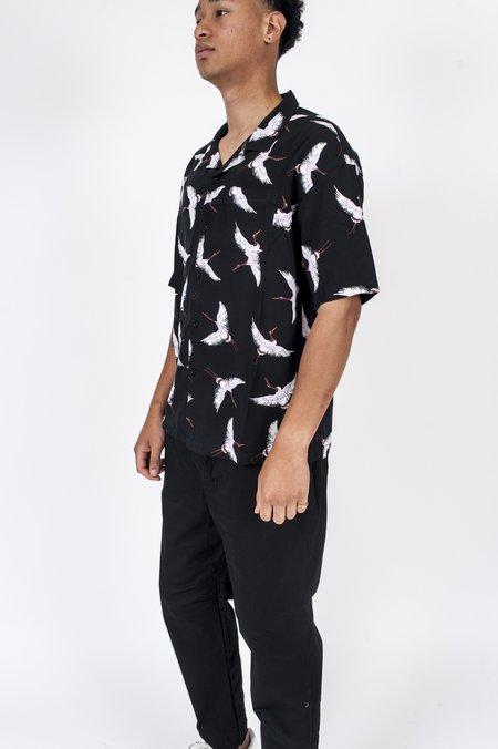 Four Horsemen Crane Camp Shirt - Black