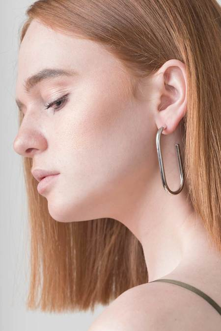 Machete Formal Maya Earrings - Platinum