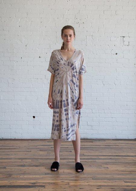 Raquel Allegra V Neck Boxy Dress - Sand Dollar