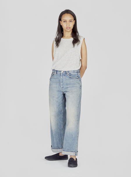 UNISEX I AND ME SELVEDGE WIDE LEG JEANS