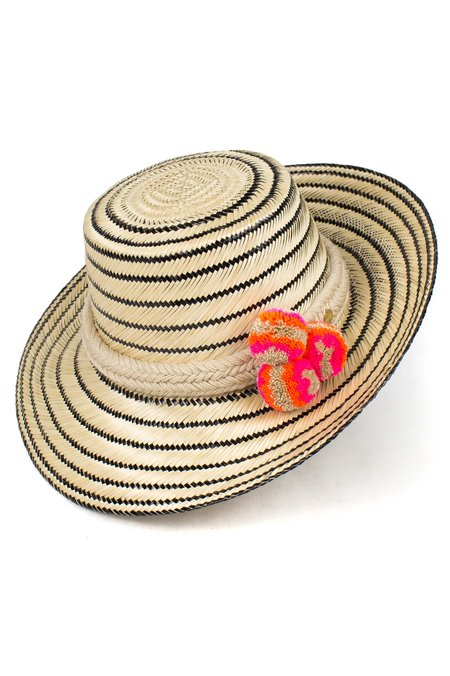 Guanábana Handmade Guajiro Fringe Stripe Hat