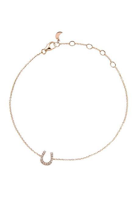 Bettina Javaheri Double Sided Diamond Horseshoe Bracelet