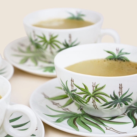 Vintage The Tabu Shop Tropical Coffee Set