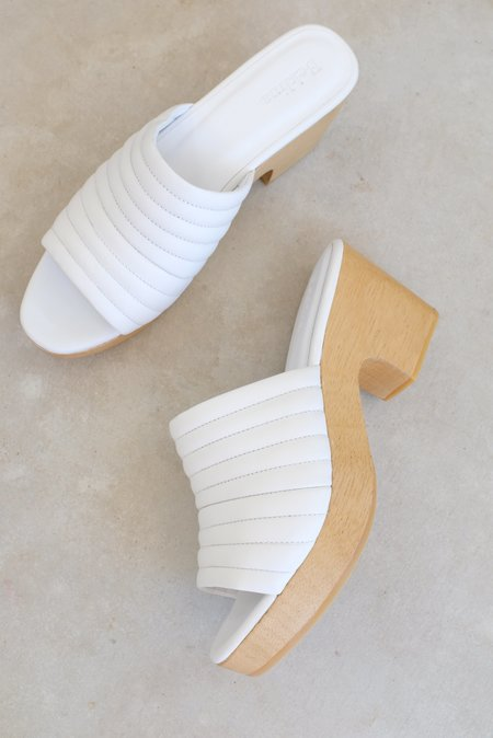 Beklina Ribbed Clog - White