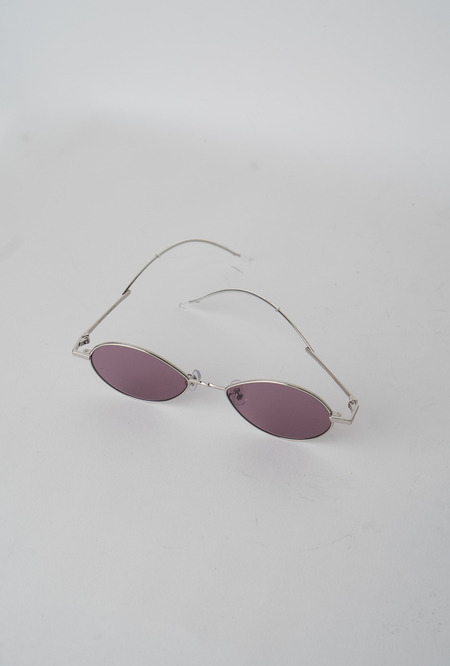 Gentle Monster Cobalt 02 V Sunglasses - Silver/Violet