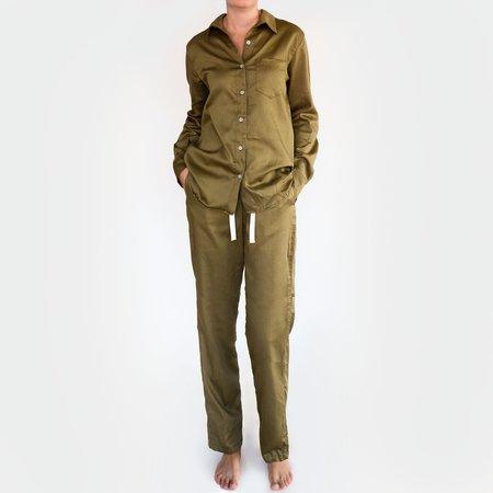 Penney + Bennett Organic Cotton Long Sleeve Shirt - Olive